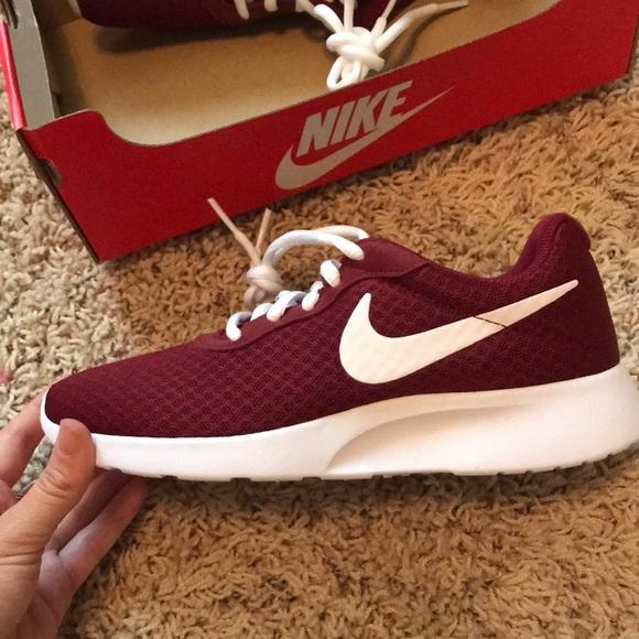 Nike Shoes | Nike Tanjun Maroon Shoes